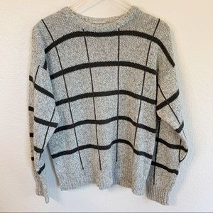Vintage tweed pullover crew neck sweater